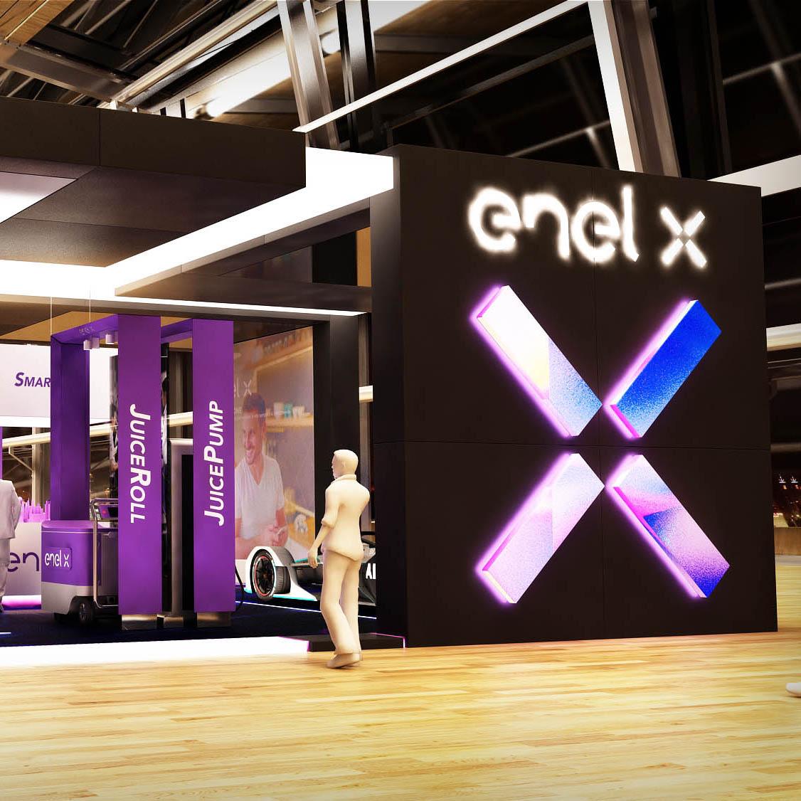 ENEL X stand Formula E nuvola 2019 AMD 02 a