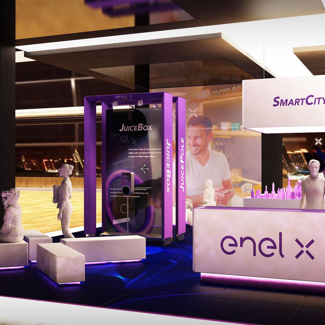 ENEL X stand Formula E nuvola 2019 AMD 04 a